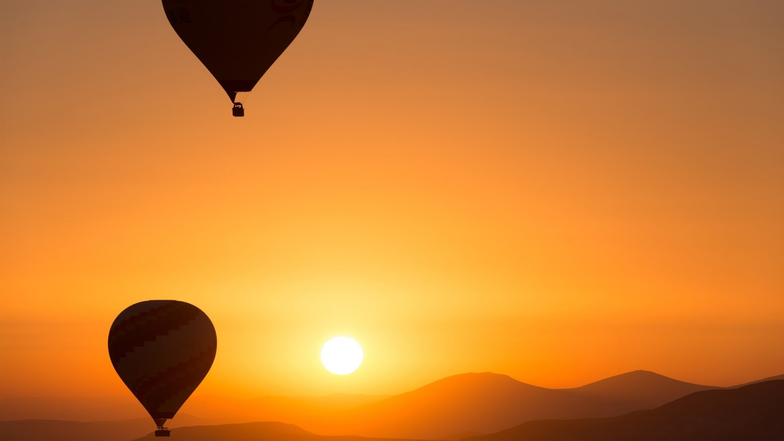 Hot Air Ballons Sunrise Android Wallpaper HD