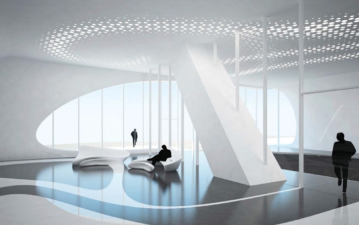 Inside of One Thousand Museum by Zaha Hadid Architects