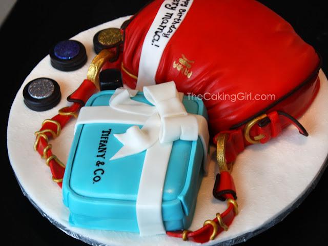 prada purse mac make up tiffany cake