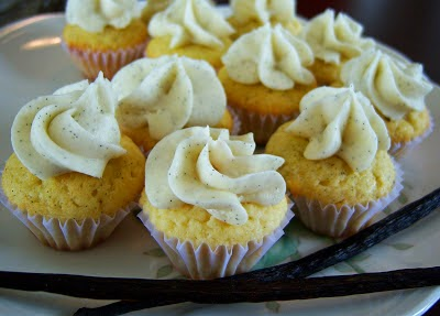 Recently- Mini Vanilla Bean Cupcakes