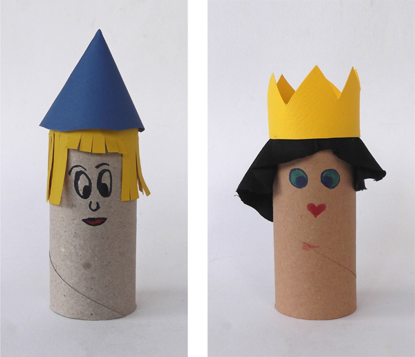 puppets, dolls, hat, toilet paper roll, recycled art, recycled crafts, toilet paper roll crafts, figures, paper crafts, cardboard crafts, huma figures