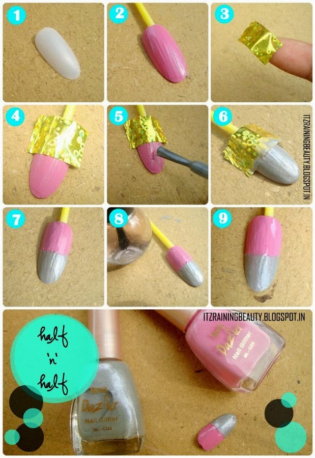 Stunning step by step nail art designs at home images amazing stunning simple nail art designs step by step at home pictures prinsesfo Images