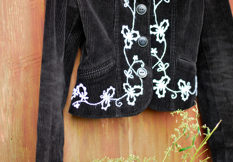 Euphorias room diy embroidered jacket