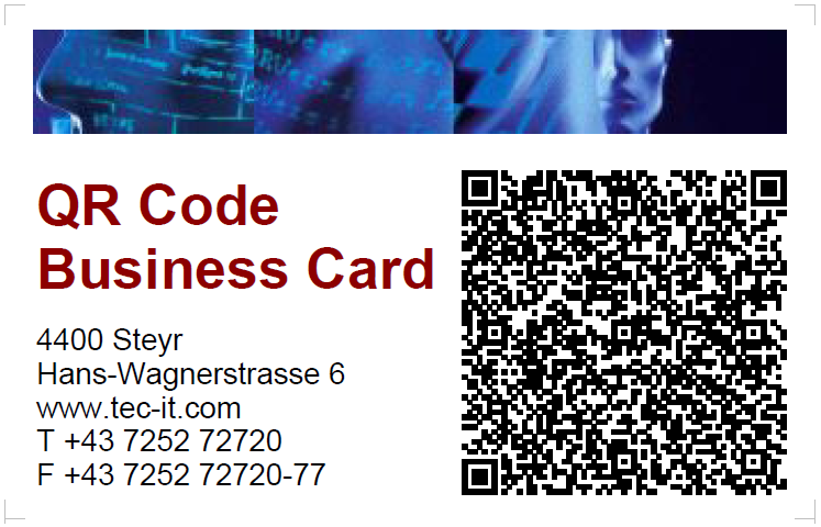 Identifying objects by tec it create popular qr codes for qr code vcard reheart Image collections