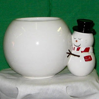 Buy a Send a Hug Ceramic Snowman Container