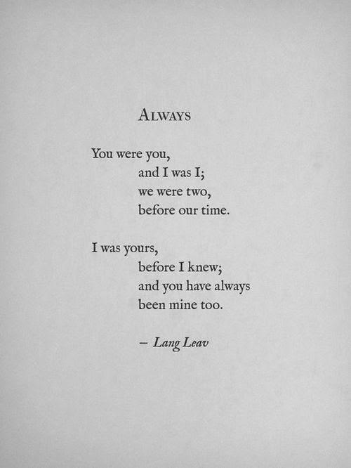 lang leav for you