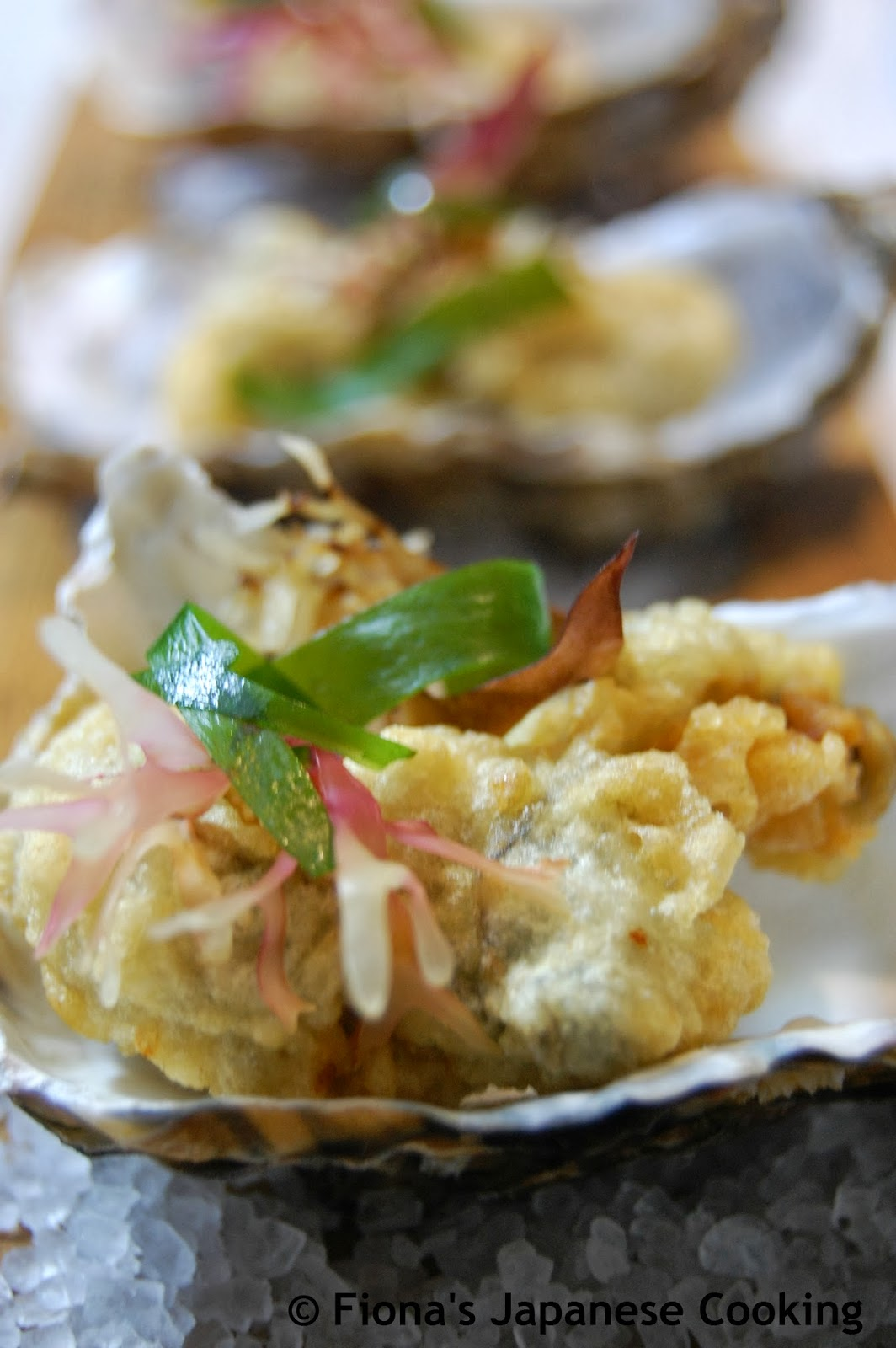 Fionas japanese cooking oyster tempura recipe oyster tempura recipe forumfinder Gallery