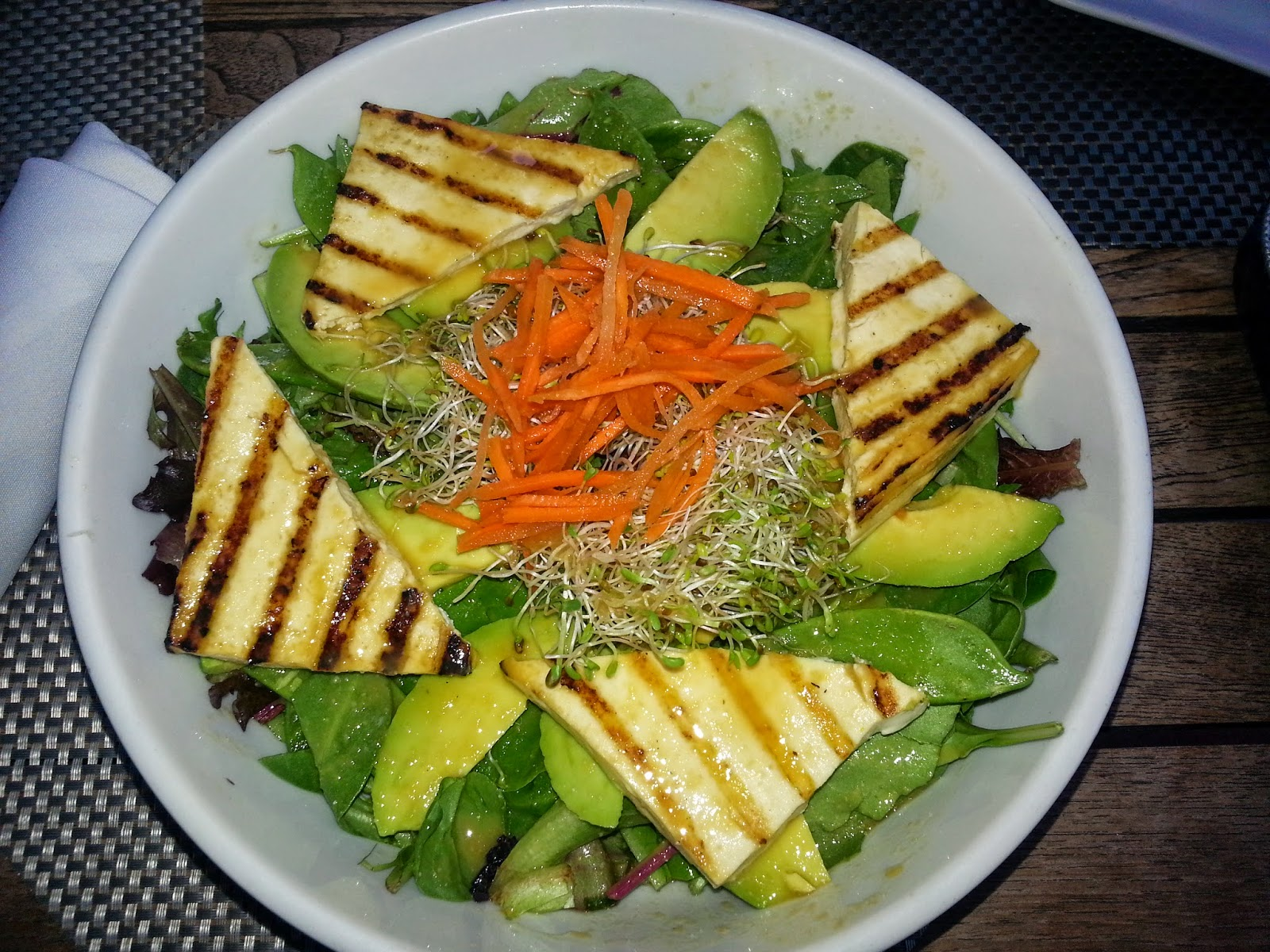 dressing grilled tofu salad with miso dressing grilled tofu salad ...