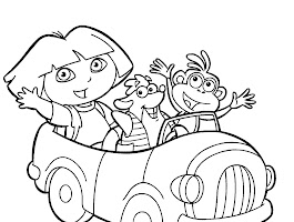 Dora The Explorer Swiper Coloring Pages