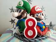 My Super Mario Bros cake! Starring Luigi.