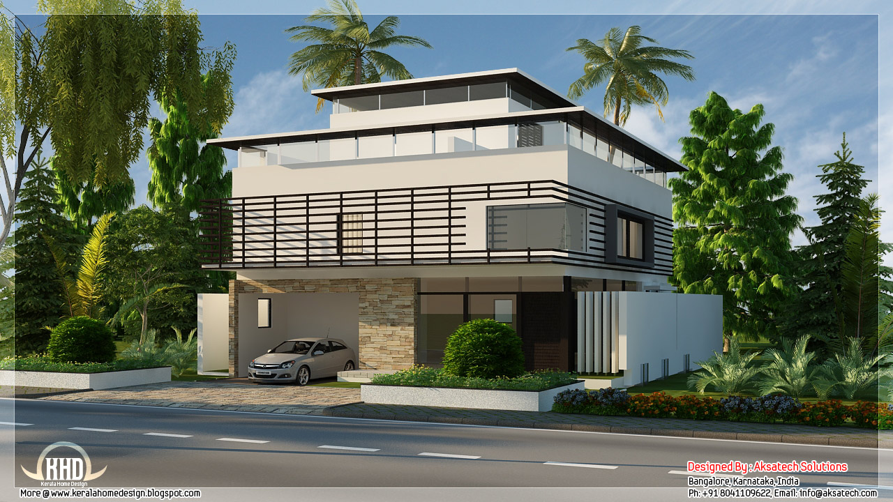 Mix collection of 3D home elevations and interiors - Kerala home ...