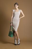 Rochie midi cu insertii negre pe lateral Nola Fashion