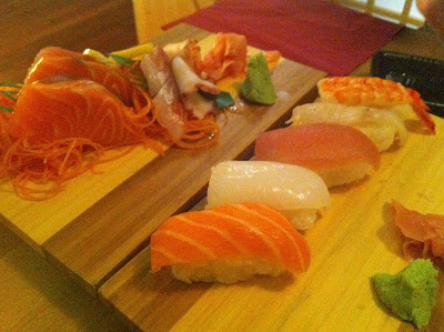 Stitch and Bear - Sushi platters at Mushashi