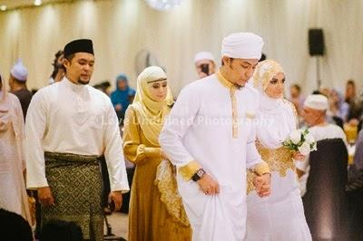 Gambar nikah Syamsul Yusof & Puteri Sarah