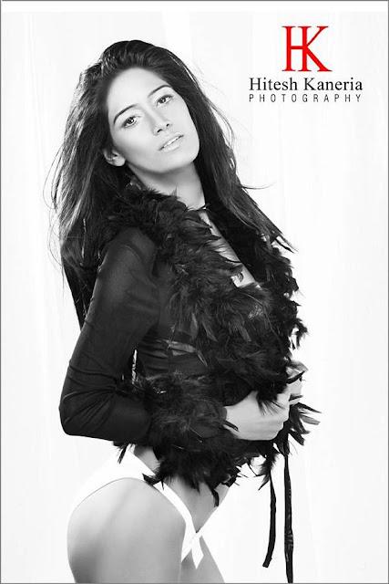 Dusky Model Poonam Pandey Shoot in White Bikini