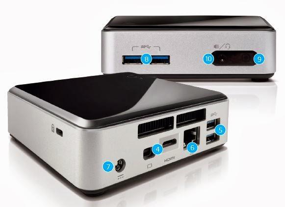 מחשב מיני של אינטל דגם NUC Kit D54250WYK - מארז
