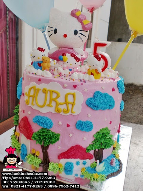 kue tart hello kitty buttercream cantik