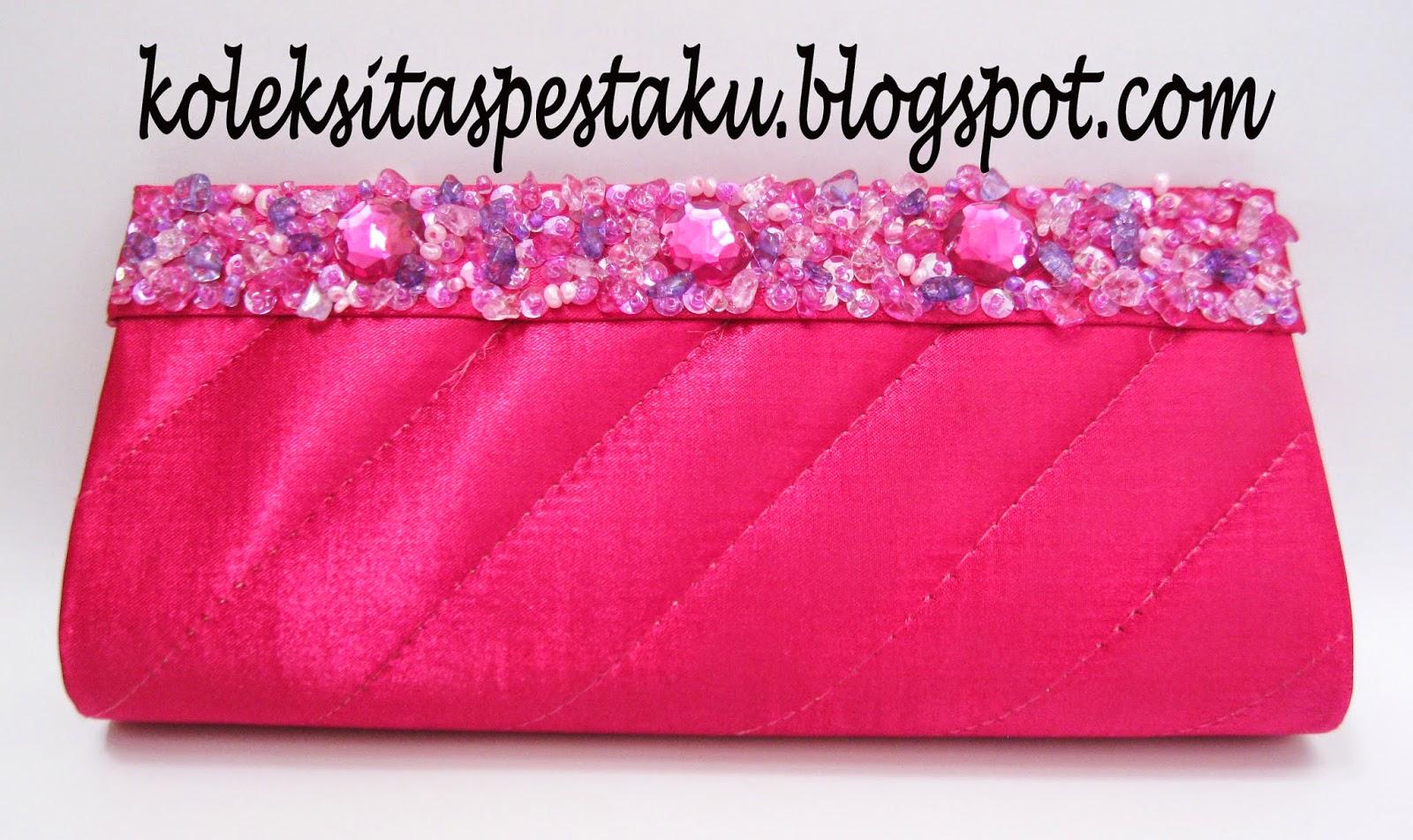 TAS pesta dompet cantik mewah ready stock pink fanta murah