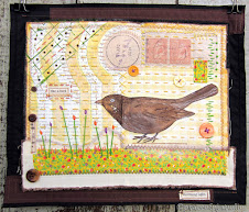 Brown Bird in Mixed Media