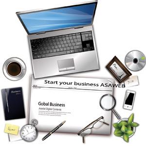 desktop vector Desktop Business Global Vector, disc vector, Vector Disc, Notes Vector, Coffe Vector