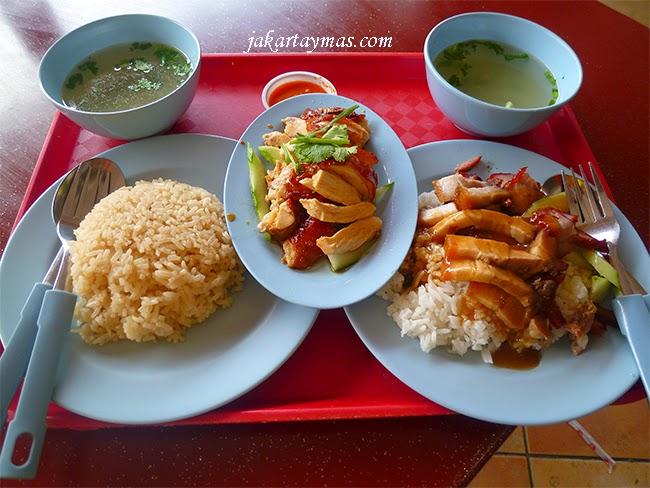 Comida en el Albert Centre de Singapur