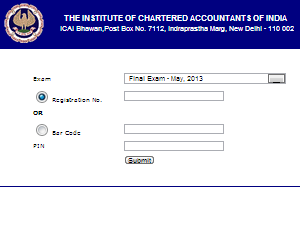 CA CPT Admit Card 2013