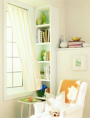 Rincón de lectura en casa
