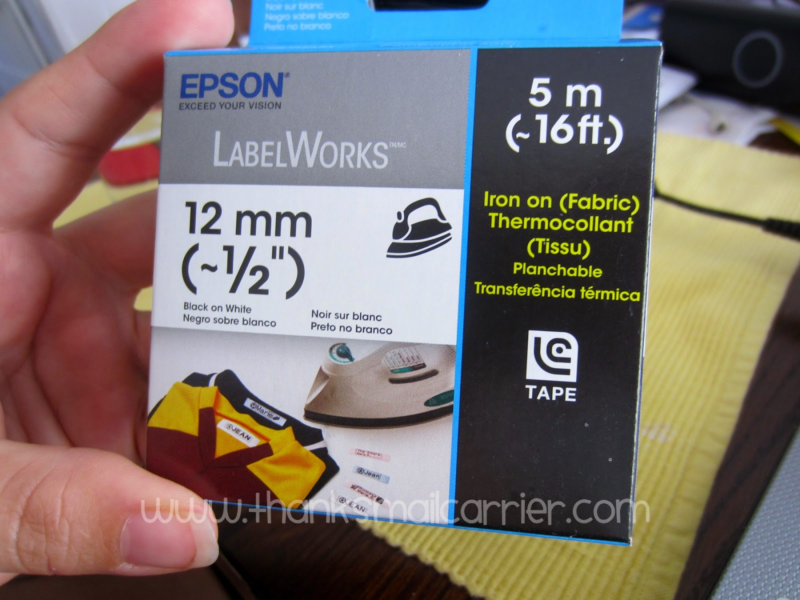 Epson iron on labels