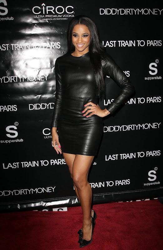 Ciara leather dress