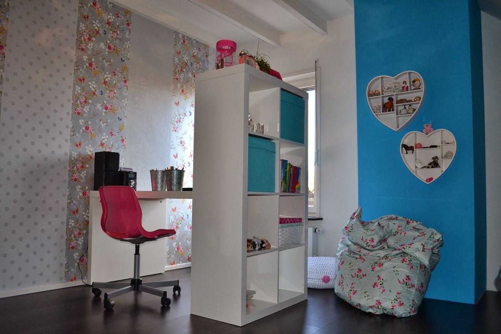 By interieur advies styling recente projecten meisjeskamer - Behang tienerkamer ...