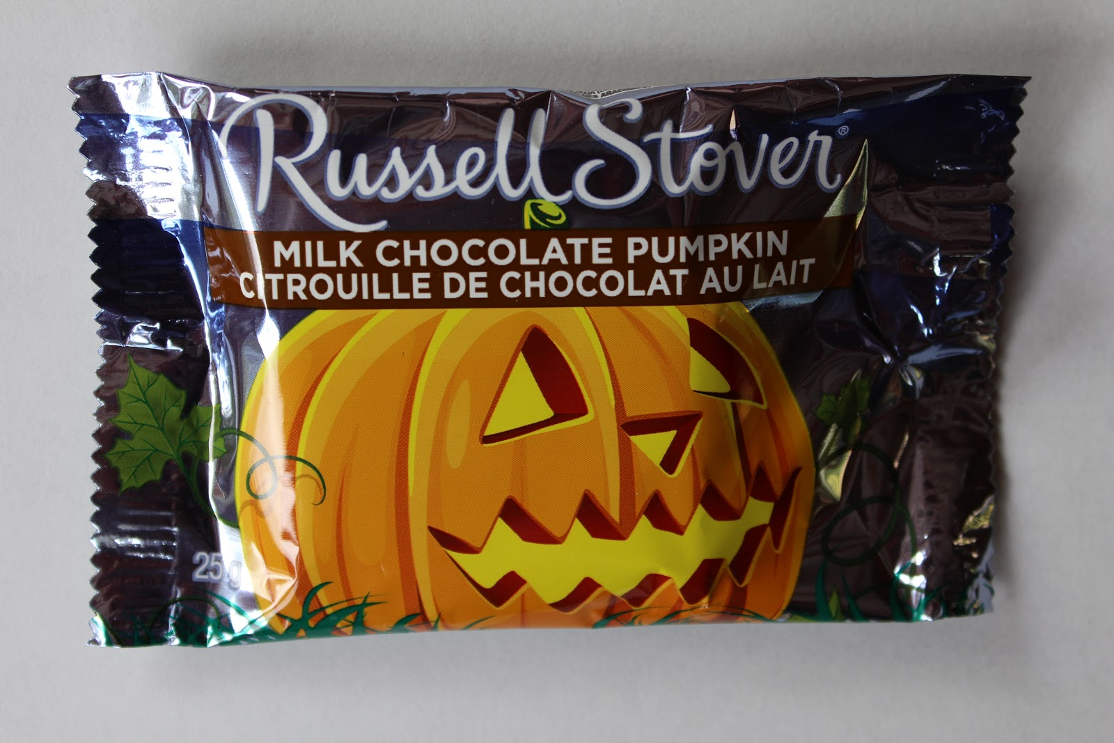 walking the candy aisle: russell stover milk chocolate pumpkin review