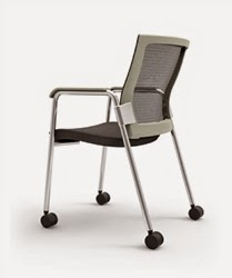 Oroblanco Side Chair with Wheels