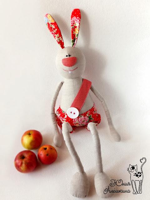 Заяц игрушечный тесктильный