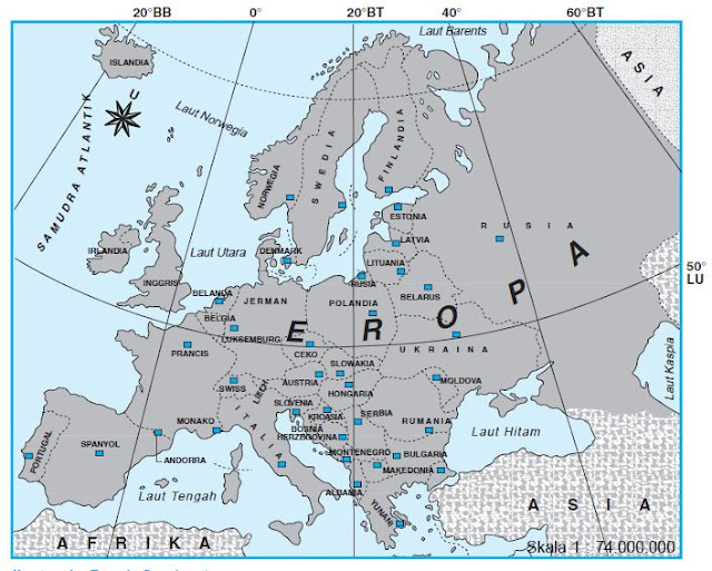 Karakteristik Benua Eropa Lengkap