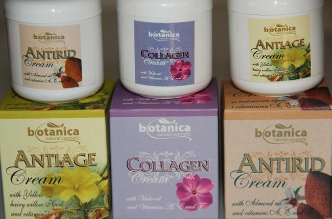 Botanica natural cosmetic face creams- antiage, antirid, collagen. Botanica kreme za lice. Botanica anitiage face cream. Botanica antirid cream. Botanica collagen cream. Jeftine kreme za lice.