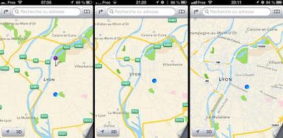 From left: 6b1 IOS, IOS and IOS 6b2 6b3