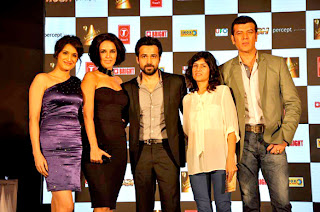 Neha Dhupia & Emraan Hashmi at 'Rush' movie audio launch and press conf................