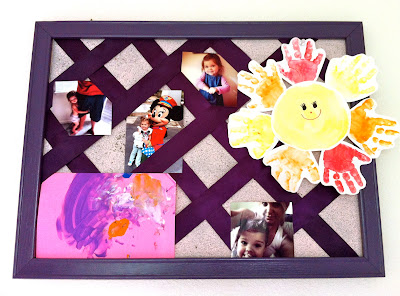 How to make a photo cork board www.thebrighterwriter.blogspot.com