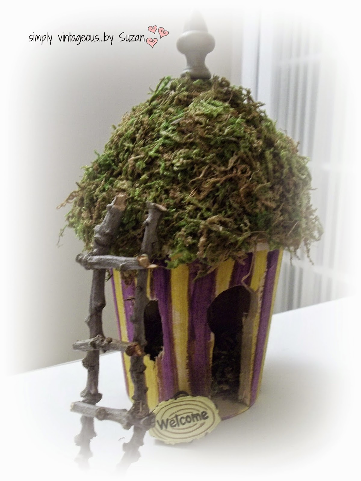 Fairy Garden House - twig ladder