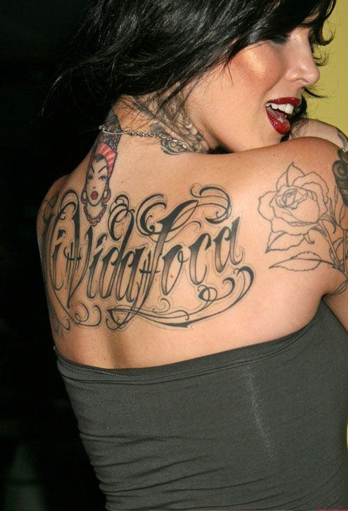 new full body tattoo kat von d tattoos on her body