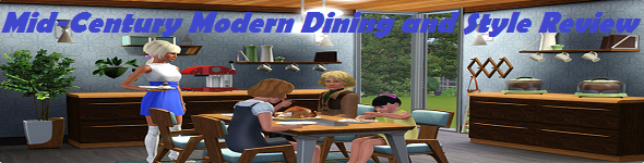 AznSensei 39 S Sims 3 Store Blog Mid Century Modern Dining And Style Review