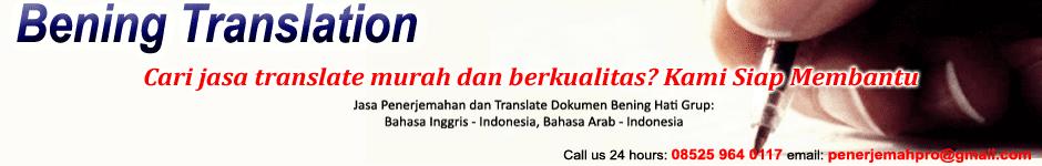 Jasa Penerjemahan Bahasa Inggris - Penerjemah Online Bening Hati