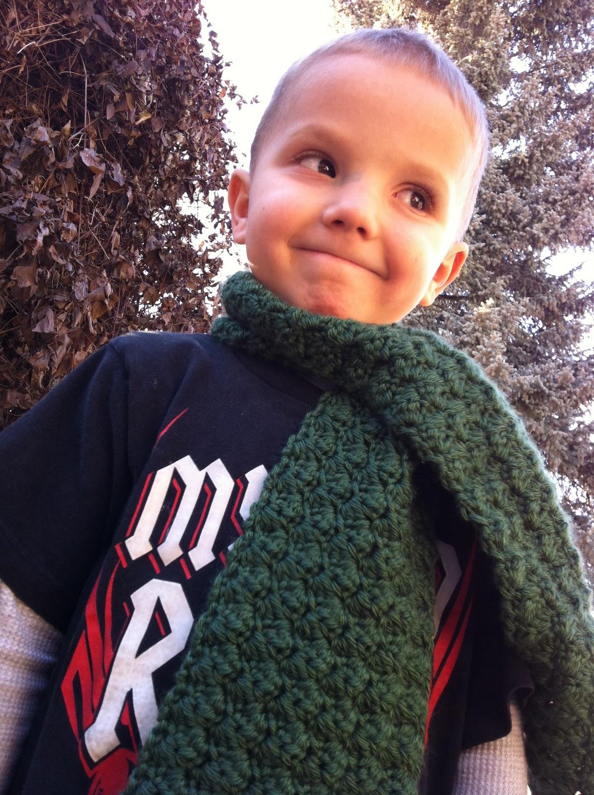 design adventures boys textured scarf