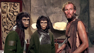 Cornelius, Dr. Zira, and Taylor in Planet Of The Apes (1968)