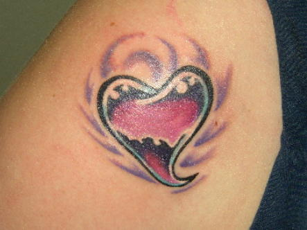tattoos designs for men. Heart and Love Tattoo Design