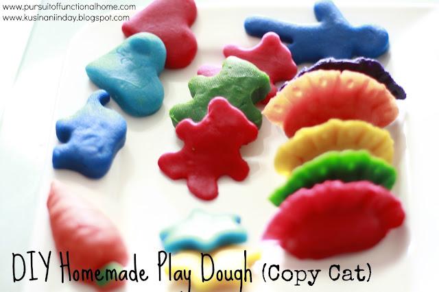 DIY Homemade Play Dough (Copy Cat), Human, dumplings, carrots, stars, hearts, teddy bears and elephant doughs