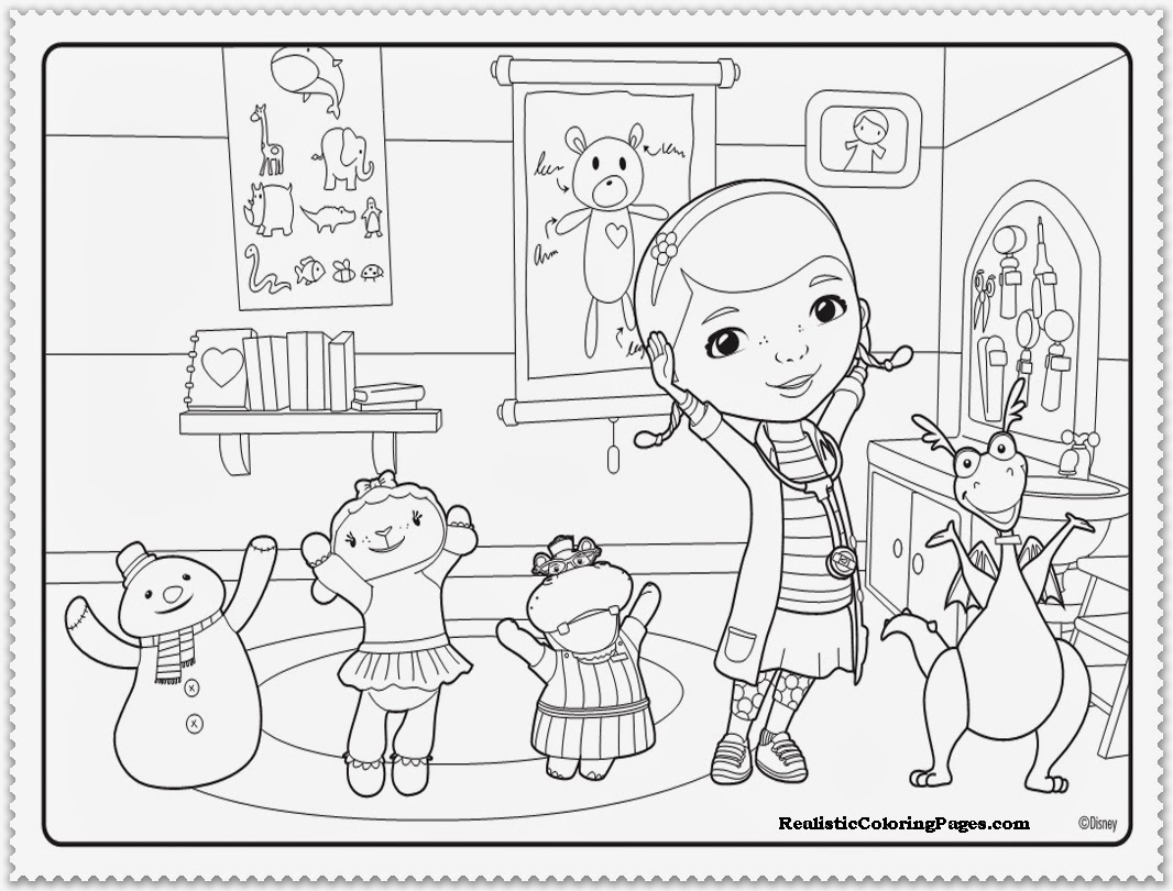 doc mcstuffins stuffy coloring pages