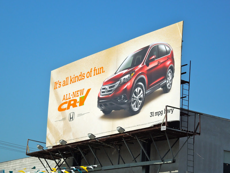 Honda CRV billboard