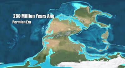 Paleo mapa del Pérmico