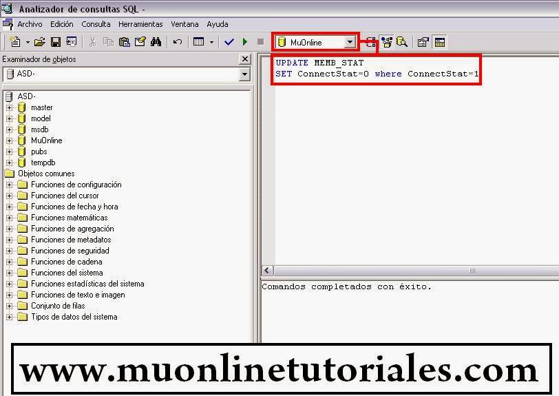 Consulta para desconectar las cuentas de la pagina del mu